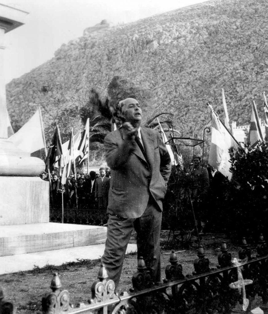 Ο Μιχ. Λάμπρου, ο οποίος διετέλεσε Δήμαρχος Ναυπλίου μέχρι τη Συμφωνία της Βάρκιζας