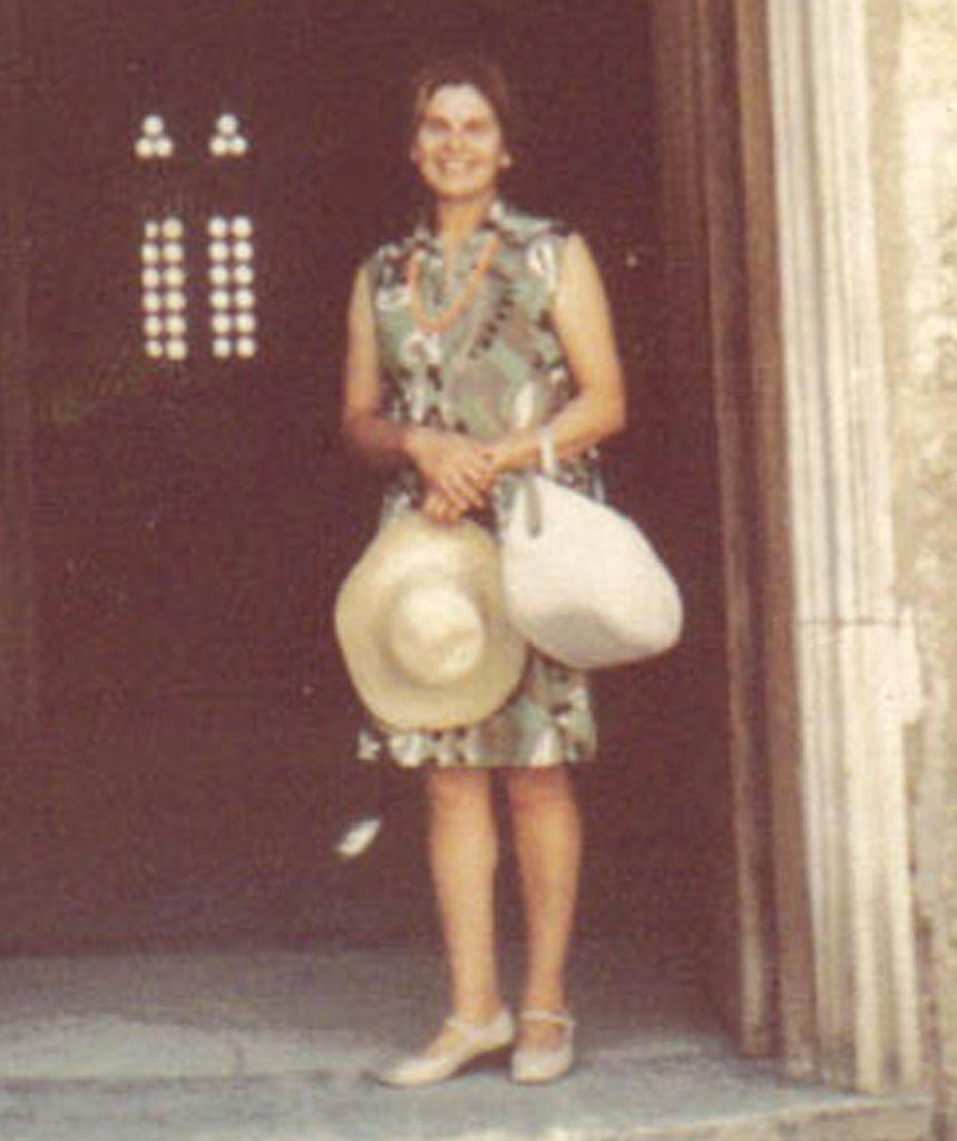 Δέσποινα Ρούβαλη, δεκαετία του '70. Αρχείο Μαρίας Γιαννοπούλου